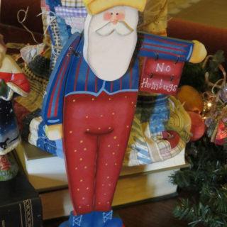 Санта Клаус в красной шапке