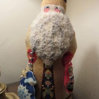 Вязаная борода Санта Клауса