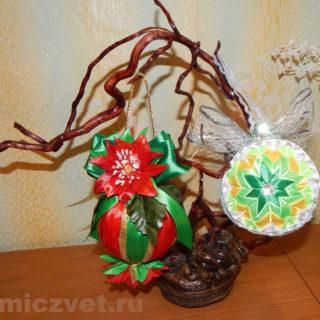 Новогодние игрушки - шары на елку своими руками