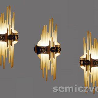 В.Д.Хахалкин. Светильники «Фотон» настенные. 1986г. Латунь, тонированный алюминий, стекло