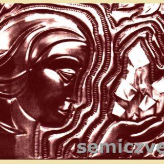 В.Хахалкин. Панно «Катенька». Чеканка, медь тонированная, 1972г.