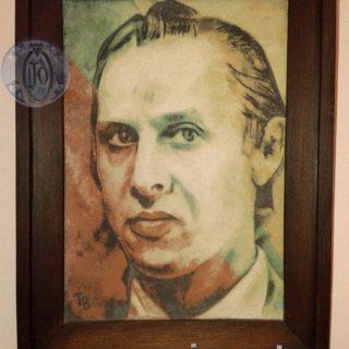 В.Толстоносов «Владимир Хахалкин». Сграффито 1991г.