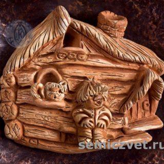 В.Хахалкин. Панно «Глубинка» (фрагмент): Шамот, англоб, кованная медь, дерево, 1998г.