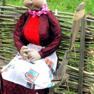 Деревенский фольклор - Ростовая кукла бабушка Клавдея своими руками