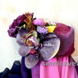 Оригинальная шляпа своими руками. Как украсить шляпу, Большой цветок-брошь
