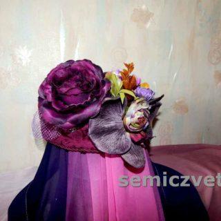 Шляпа-цветок своими руками. Декор шляпы
