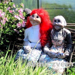 Деревенский фольклор: Ростовые куклы Бабушка и Красавица своими руками