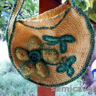 Необычная легкая сумка пластиковая для пляжа своими руками. Декор сумки