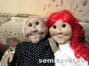 Деревенский фольклор. Ростовая кукла бабушка своими руками