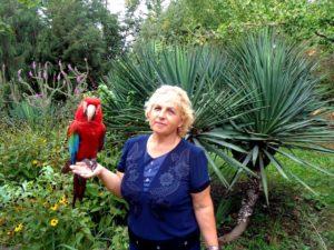 Татьяна Агарелик и доброжелательная южная птица