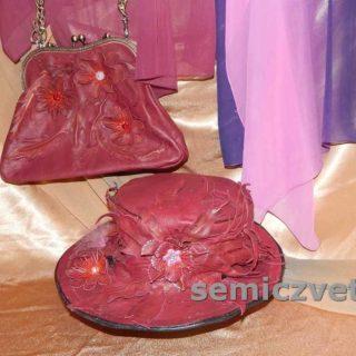 Большая красивая шляпа и модная сумка с цветами своими руками
