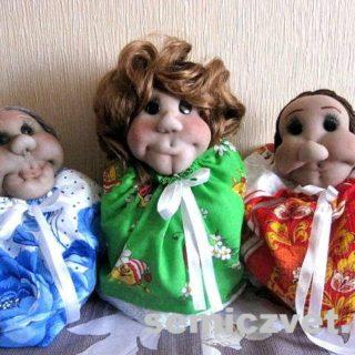 Куклы-грелки на заварочный чайник своими руками