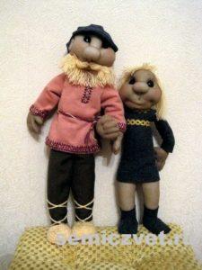 Ростовые куклы: Дед и Внучка своими руками