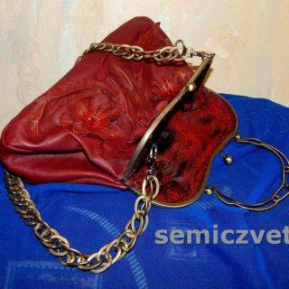 Оригинальная сумка из натуральной кожи своими руками