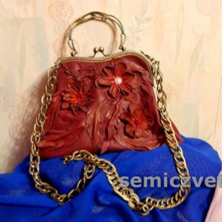 Женская сумка из кожи с фермуаром своими руками