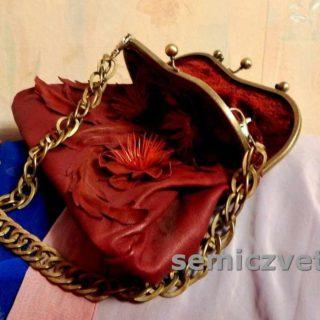 Декор красивой кожаной сумки своими руками