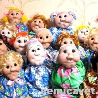 Куклы-грелки на чайник своими руками