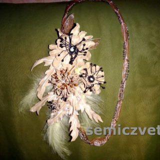 Дамский аксессуар - оригинальная брошь цветок