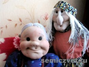 Деревенский фольклор. Ростовые куклы Бабушка и Баба Яга своими руками