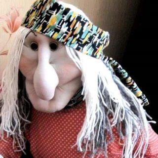 Сказочный фольклор. Ростовая кукла Баба Яга своими руками