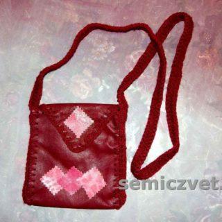 Маленькая сумка-карман из натуральной кожи своими руками