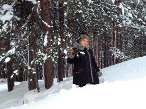 Татьяна Агарелик в зимнем Заполярье