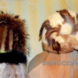Оригинальные зимние шапки из старого меха