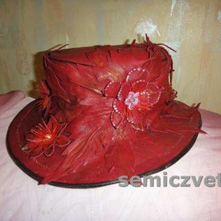 Необычная шляпа из кожи своими руками