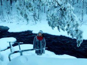 Татьяна Агарелик и красивая природа Заполярья