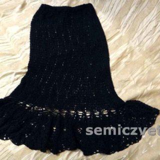 Юбка из вязаного комплекта для женщины