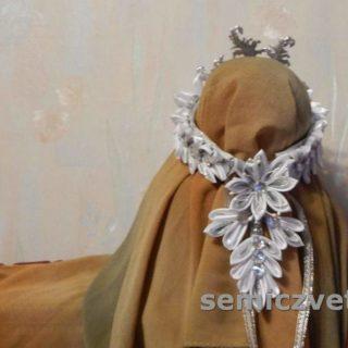 Канзаши. Новогодняя диадема своими руками