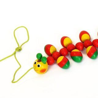 Игрушка детская Каталка деревянная «Гусеница»