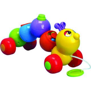Игрушка детская Каталка «Гусеница цветная»