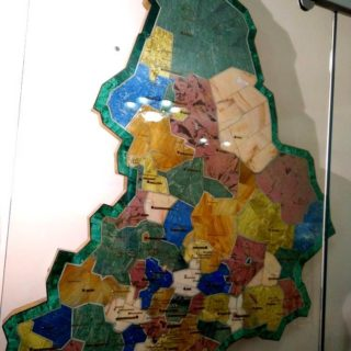 Карта Свердловской области. Уральские самоцветы