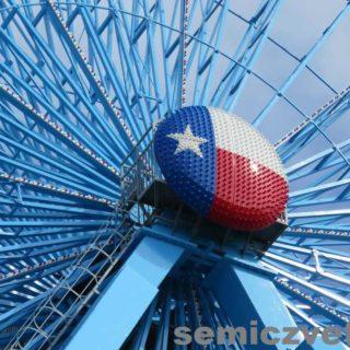 Флаг штата Техас на Колесе Обозрения. Фэйр Парк, Даллас