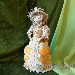 Кукла Золушка из морских ракушек своими руками
