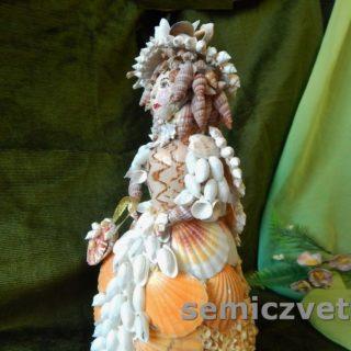 Кукла Дама из морских ракушек своими руками