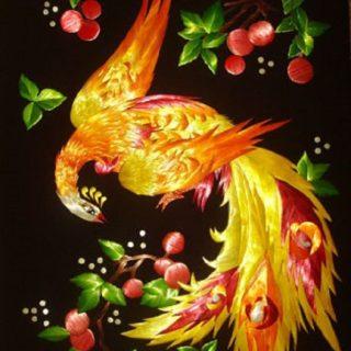 «Жар-птица». Картины из соломки