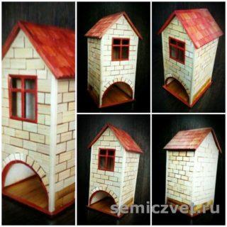 Чайный домик «Кирпичики». Изделия из соломки