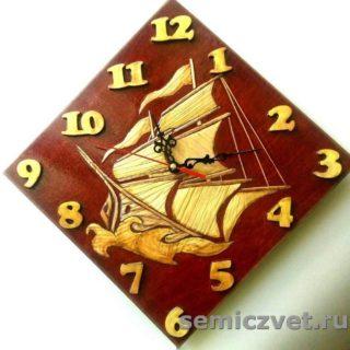 Часы «Паруса». Изделия из соломки