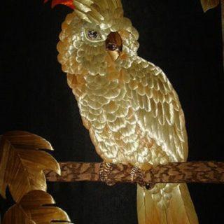 «Какаду». Картины из соломки
