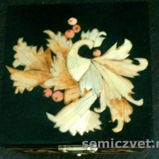 Шкатулка «Жар-птица». Изделия из соломки