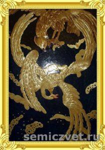 «Царевна-Лебедь». Картины из соломки