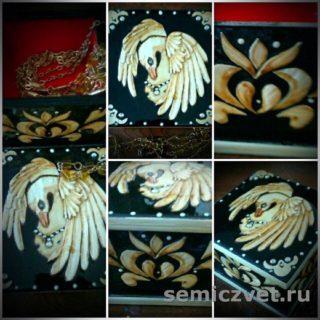 Шкатулка «Царевна-Лебедь». Изделия из соломки