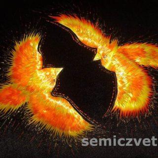 «Феникс. Пламенная страсть». Картины из соломки