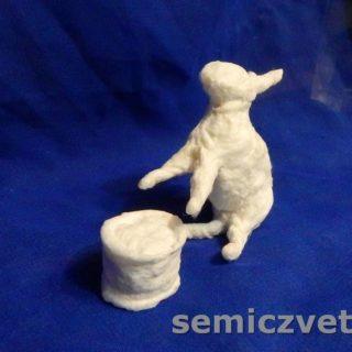 Заготовка ватной игрушки Заяц готова к покраске