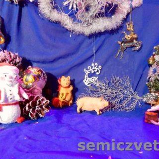 Игрушки из ваты; Свинки, Заяц и Снеговик