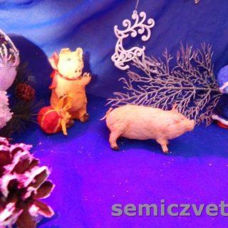 Игрушки из ваты; Девочка, Свинки