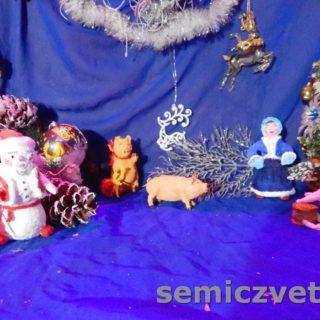Игрушки из ваты: Девочка, Свинки, Заяц и Снеговик