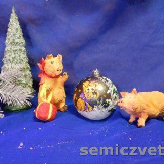 Игрушки из ваты Свинки